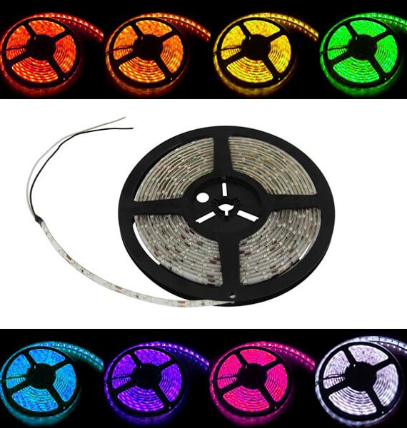 LED TRAKA 7.2W 12V 5000X10X2.2mm IP20 5050-30D RGB BRILIGHT